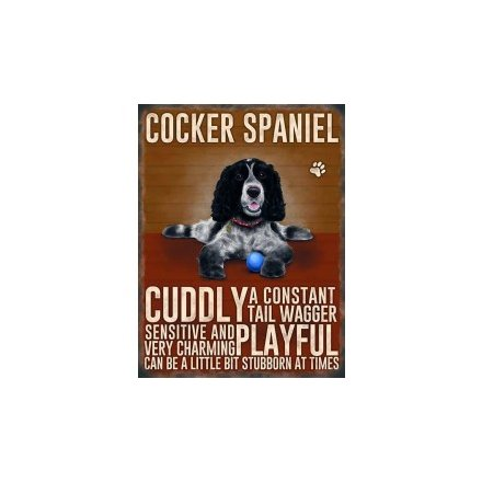 Mini Metal Sign - Cocker Spaniel