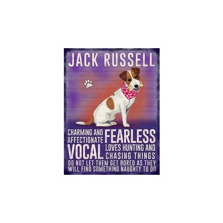 Mini Metal Sign - Jack Russell
