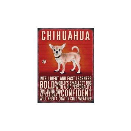 Mini Metal Sign - Chihuahua