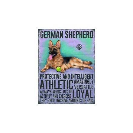 Mini Metal Sign - German Shepherd