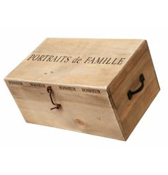 Shabby chic wooden storage box for all of our favourite photographs