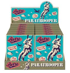 A blast from the past, retro paratrooper toy with vintage style gift box
