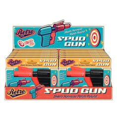 A blast from the past, retro spud gun in a vintage designed gift box
