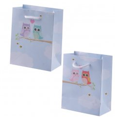 Colourful gift bag with popular Love Owls design
