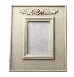 Chic cream antique frame with a distressed finish
