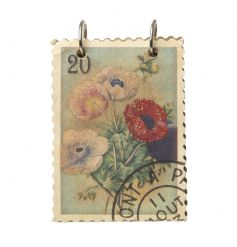 A stylish stamp style ring bound notebook with a glitter floral design.