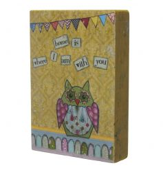 A stylish design with a cute owl print and lovely text