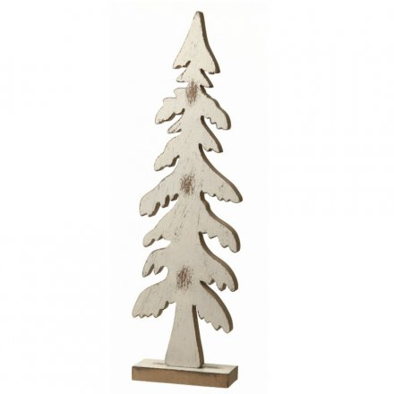 Ffz077 Large Wooden Xmas Tree Decor 40cm 24815 Christmas