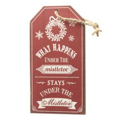Festive wooden tag shaped sign by Heaven Sends