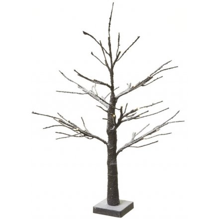 LED twig tree with snow detail, a best selling item for Christmas displays
