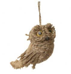 Rustic owl decoration by Heaven Sends in a jute material
