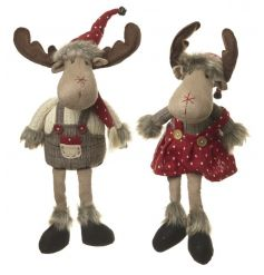 Adorable woodland moose with festive outfits and fur details. Fall in love this Christmas.