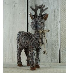 A gorgeous rustic reindeer decoration with bells. A lovely item to bring out each year.