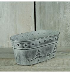 A festive style zinc trough for all your Christmas treats