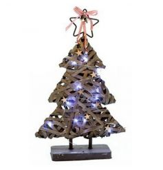 LED light up Christmas tree decoration in a popular greywash design