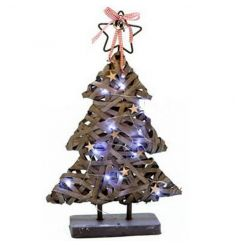 Decorative Christmas tree ornament with LED light up facility, battery powered