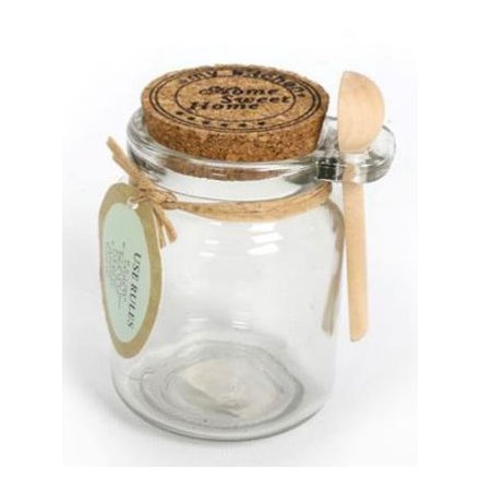 Cork Top Storage Jar W/ Spoon