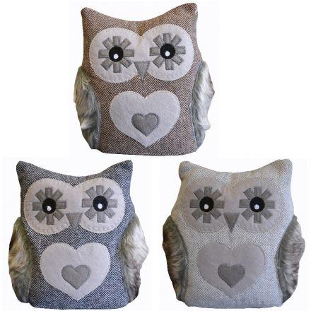 Merveilleux Grey Owl Doorstop 30cm