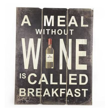 Without Wine Wooden Plaque, 50cm