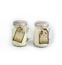 Wax filled jars in an assortment of two popular fragrances