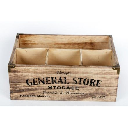 Wooden General Store Box, 30cm
