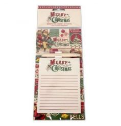 A gorgeous vintage Christmas notepad with magnet and pencil. Ideal for writing shopping and Christmas lists!