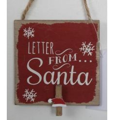 A novelty hanging wooden Letter From Santa peg perfect for displaying wish lists.