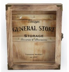 Rustic style key box with a popular General Store design