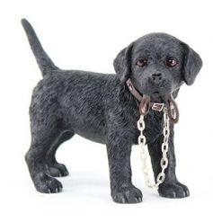 From the Leonardo Walkies collection, Black Labrador figurine