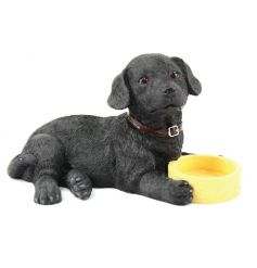 From the Leonardo collection, Black Labrador figurine with bowl