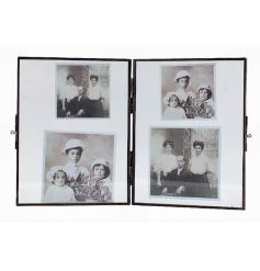 Shabby chic glass picture frame from the popular collection of hanging glass frames