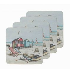 Set of 4 coasters by Leonardo with popular Sandy Bay design