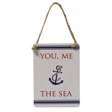 You, Me & The Sea Mini Metal Sign