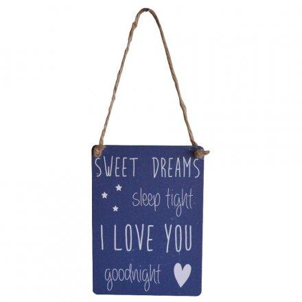 Mini Metal Sign - Sweet Dreams
