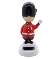 Fun and quirky novelty guardsman solar pal