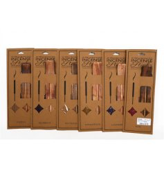 20 incense sticks with holder in an assortment of 6 fragrances