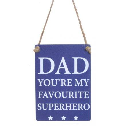 Mini Metal Sign, Superhero
