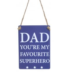 A lovely sentiment mini metal sign ideal for many occasions.