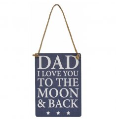 A lovely mini metal sign in navy and white with jute string to hang. A great gift for many occasions.