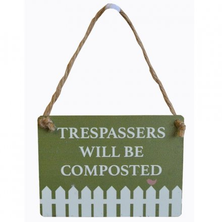 Garden Mini Metal Sign, Composted
