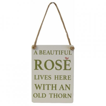 A Beautiful Rose Old Thorn Mini Metal Sign