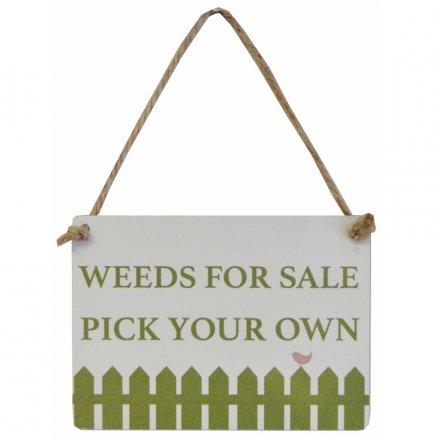 Weeds For Sale Pick Your Own Mini Metal Sign