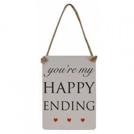 Mini Metal Sign, Happy Ending