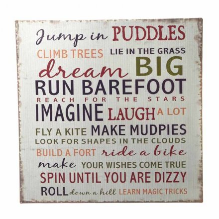 Dream Big Distressed Metal Sign