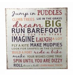 Sweet Dream Big text on a rustic and distressed metal sign