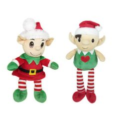 A mix of soft toy elves making a great stocking filler item