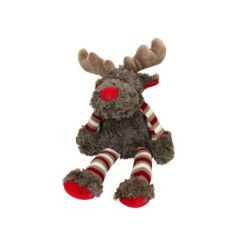 Soft and cuddly reindeer toy with festive detail
