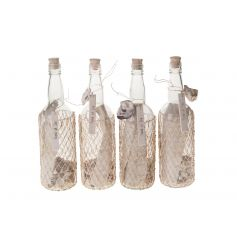 Message in a bottle decorations, an assortment of 4