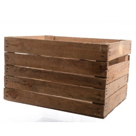 Rustic apple crates, great for storage and display