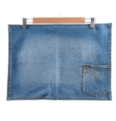 A cool and trendy denim placemat with pocket for storing cutlery